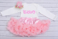 Baby girl first 2nd birthday tutu outfit cake smash pink