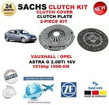 para Opel ASTRA G 2.0 DTI 16v 101bhp 1998-on SACHS 2 PIEZAS KIT DE EMBRAGUE
