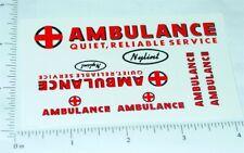 Nylint Ford Econoline Van Ambulance Stickers    NY-034