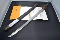 "Wakizashi Japanese antique sword Mumei (Mizuta) made Edo period NBTHK Kicho"""