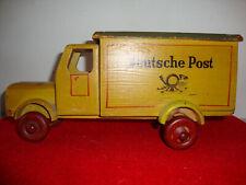 Altes Holzauto Post Laster Lkw Postauto Vintage Deko Spielzeug !