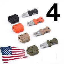4 EDC Military Pocket Shiv Adapter Knuckles MOLLE System Self Defense Knife bob