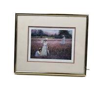 Lynn Gertenbach Wall Art Framed Print, Sweet Peas Garden Hand Signed