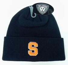 SYRACUSE ORANGEMEN NAVY CUFFED NCAA SNOW KNIT BEANIE WINTER SKI CAP HAT NEW!