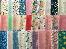 """Fun Children Prints Fabric 30 Pc Layer Cake 10"""" Squares OOP Quilt Shop Quality"""