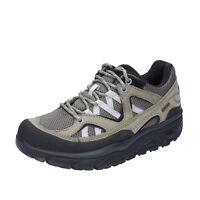 scarpe donna MBT 35 EU sneakers verde grigio tessuto nabuk BT23-35