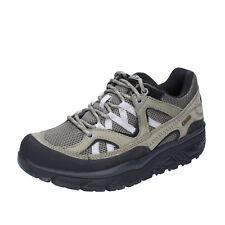 scarpe donna MBT 43 EU sneakers verde grigio tessuto nabuk BT23-43