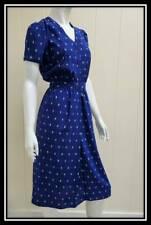 Vintage Maggy Boutique Dress does 40s Sz 8 Blue Dress