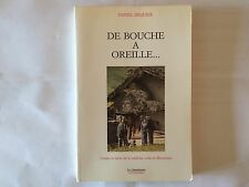 DE BOUCHE A OREILLE 1988 DEQUIER CONTES RECITS ORALE MAURIENNE ILLUSTRE
