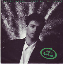 Bryan Adams Heat of the Night Australian poster sleeve 45 record (1987)