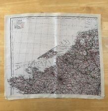 Original WW2 British SOE MI9 RAF Bartholomew Series Silk Escape Map - France C/D