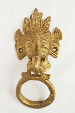 Brass Door Handle Knockers Ganesha Face Design  Antique Finish Home Decor
