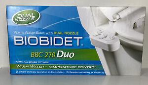 Bio Bidet BB-270 BBC-270 Duo Nozzle Non-Electric Attachment Warm Temp NEW!