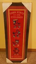 Iowa State Cyclones Framed Embroidered Mascots Circa 1965, 1978, 1983 and 2009