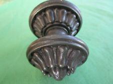 Poignée D. 6 cm rosace ronde 7,2 ancienne fonte décoré JJ porte entrée fixe