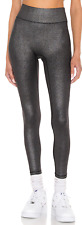 NWT - ALL ACCESS Women's 'CENTER STAGE' Silver Foil LEGGINGS - M