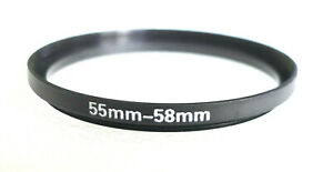 55-58mm Step-Up Adapter - 55mm-58mm Stepping Ring - NEW