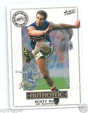 2001 Select Authentic All Australian (Aa22) Scott West Western Bulldogs +