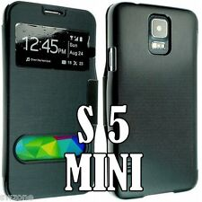 Para Samsung Galaxy S4 Mini De Cuero Funda Cartera Flip posterior Bolsa g800f G800