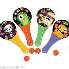 12 Boo Buddies Monstruos Halloween botín de grupo es partidario de Paddle Ball Toys