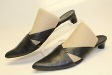 Costume National Womens 5.5 35.5 Leather Italy Made Kitten Pointed Mules Shoes