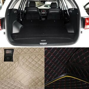 PU Leather Rear Trunk Cargo Liner Protector Mat Seat Back Pad For Kia Sorento