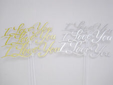 Floral Picks I LOVE YOU Gold and Silver Pk/12 NEW !