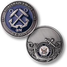 US Navy Boatswain's Mate Challenge Coin BM Bosun Boats Rating Rate Rank Anchors