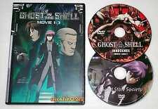 GHOST IN THE SHELL DVD Movie 1 2 3 PERFECT COLLECTION SET English dub NEW in USA
