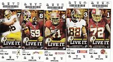 2013 WASHINGTON REDSKINS SEASON TICKET STUB SET 10 TICKETS ROBERT GRIFFIN III