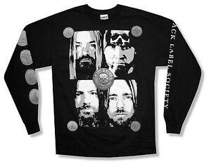 Black Label Society BLS Band Faces Order Long Sleeve Shirt Adult New