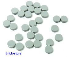 lego gris clair ronde 1x1 Bouton carrelage/Dalles/PLAQUES/20 pièces
