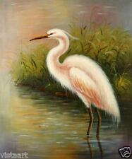 "Oil Painting On Stretched Canvas 20""x 24""- White Egret"