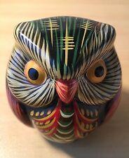 """3"""" Multi Color Decorative Ceramic Owl Figurine"""