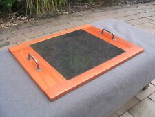 BBQ Serving Tray Aust Hardwood Frame with Granite Insert 62cm x 49cm