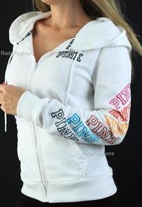 Victoria's Secret PINK Perfect Full Zip Anorak Hoodie Fleece Sweatshirt