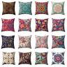 AS_ Colorful Flower Peach Skin Pillow Case Waist Cushion Cover Home Decor Retro