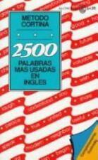 2500 Palabras Mas Usadas En Ingles - Metodo Cortina