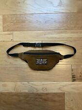 Vintage JanSport Adventure Brown Leather Suede Waist Fanny Pack Made In The USA