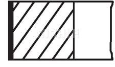 1 Kolbenringsatz MAHLE 040 04 N0 passend für PEUGEOT