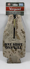Vanguard USMC Desert digital one shot one kill with Koozie with zipper bullet