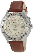 Timex Intelligent Quartz Mens Intelligent Quartz Leather Strap Watch T2P426