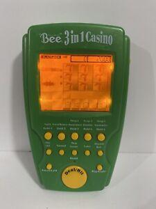 Bee 3 In 1 Casino Illuminated Handheld Electronic Game Poker Blackjack Slots
