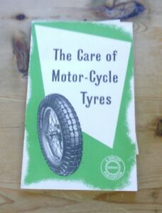 The care of motorcycle tyres published by Dunlop