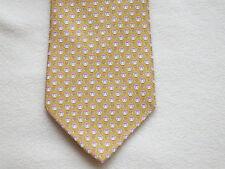 $190 NWT Authentic SALVATORE FERRAGAMO Silk Yellow Owl-Moon-Stars Tie