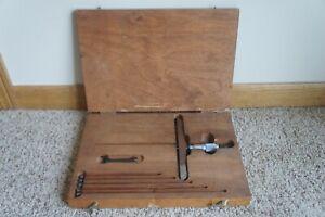 Starrett No 445 Depth Gauge Micrometer w/ Wooden Case