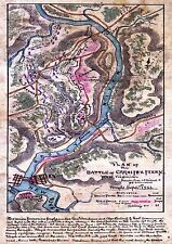 MAP USA CIVIL WAR CARNIFEX FERRY BATTLE PLAN LARGE REPLICA POSTER PRINT PAM1250
