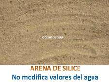 ARENA SILICE 1,5kg decoracion sustrato no altera valores acuario pecera marino