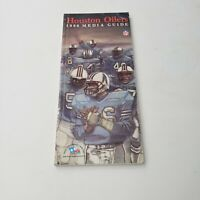 1986 Houston Oilers Media/Press Guide Official NFL Yearbook