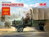 ICM 35706 1/35 scale - American drivers 1917-1918, 2 figures 50 mm Plastic model